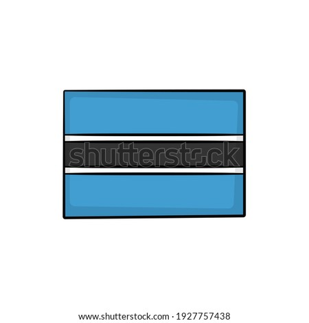 hand drawn national flag of botswana isolated on a white background vector sketch style illustratio stock photo © garumna