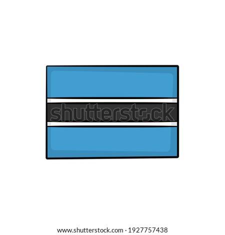 Foto stock: Dibujado · a · mano · bandera · Botswana · aislado · blanco · vector