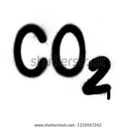 graffiti carbon dioxide co2 formula sprayed in black over white Stock photo © Melvin07