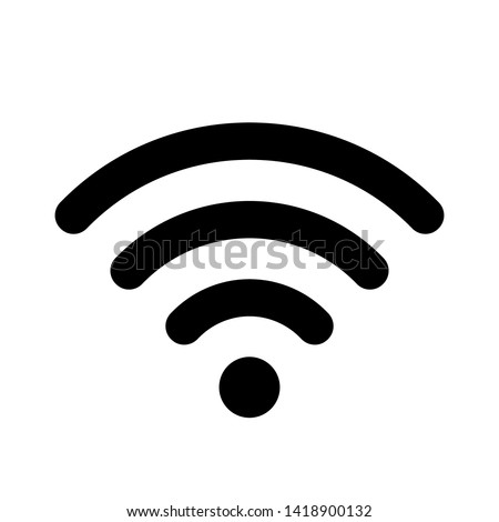 Smartphone outline icon with wifi signal. Vector design template stock photo © kyryloff