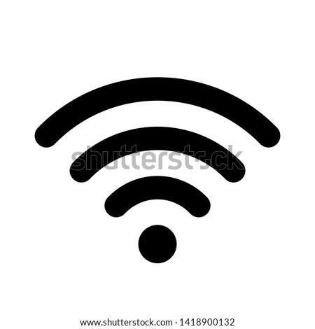 Smartphone ikona wifi sygnał wektora Zdjęcia stock © kyryloff