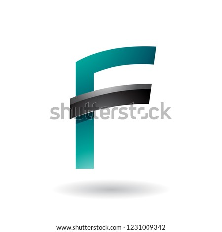 Persian Green Letter F with Black Glossy Stick Vector Illustrati Stock photo © cidepix