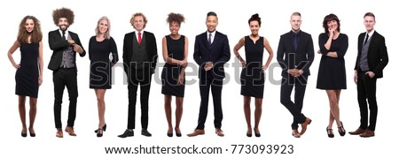Full length image of successful businessman 30s in suit rejoicin Stock photo © deandrobot