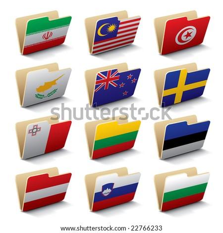 Dobrador bandeira Eslovenia arquivos isolado branco Foto stock © MikhailMishchenko