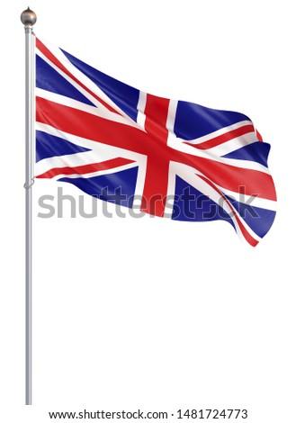 vlag · groot-brittannië · detail · zijdeachtig · ondiep · achtergrond - stockfoto © iserg