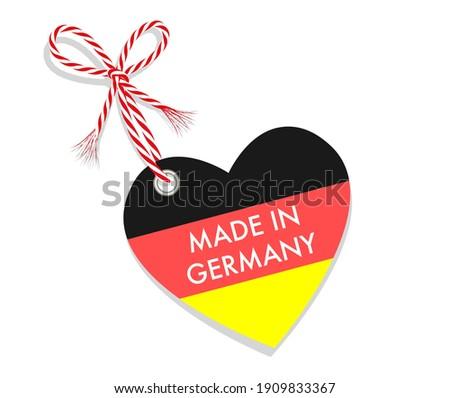 Símbolo tricolor aislado blanco Alemania Foto stock © kurkalukas
