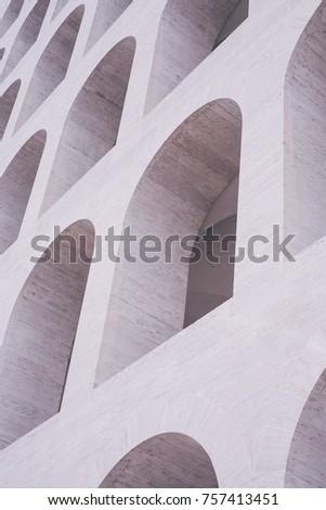 Palazzo della Civilta Italiana (Square Colosseum) in Rome, Italy Stock photo © hsfelix