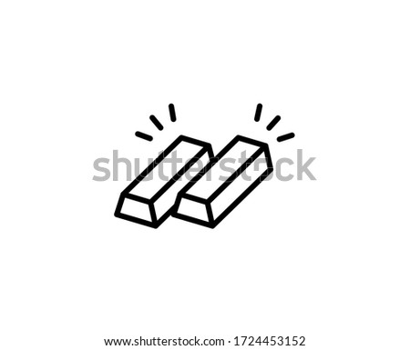 Icon of gold bars pyramid for banking concept. Flat filled outline Stock photo © ussr