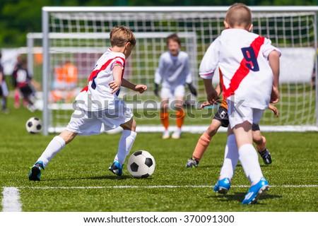 サッカー 一致 フットボールの試合 若者 プレーヤー 男の子 ストックフォト © matimix