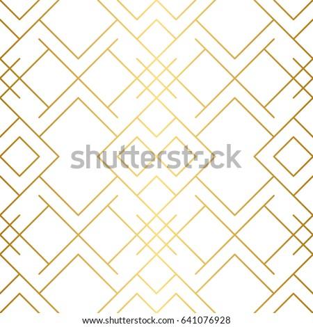 Geométrico sem costura dourado padrão simples vetor Foto stock © Iaroslava