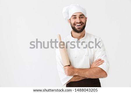 シェフ · 調理 · プロ · ポーズ · レストラン · クロス - ストックフォト © deandrobot