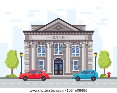 House with columns icon. Building of bank, government, court hou stock photo © kyryloff