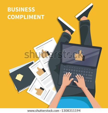business · compliment · handen · zakenman · teken - stockfoto © makyzz