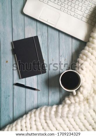 Top laptop notebook pen zwarte Stockfoto © ElenaBatkova