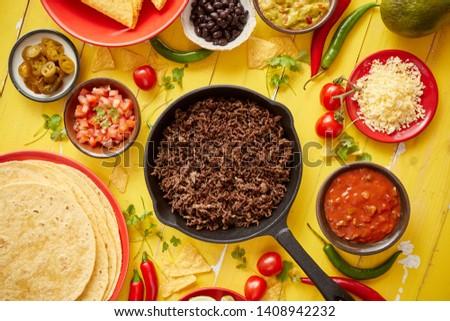 cozinha · mexicana · pimenta · cozinhado · panela · comida · prato - foto stock © dash