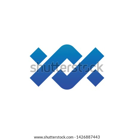 Chain bond tread company infinity concept elements partnership icon logo. Vector illustration isolat Stock photo © kyryloff