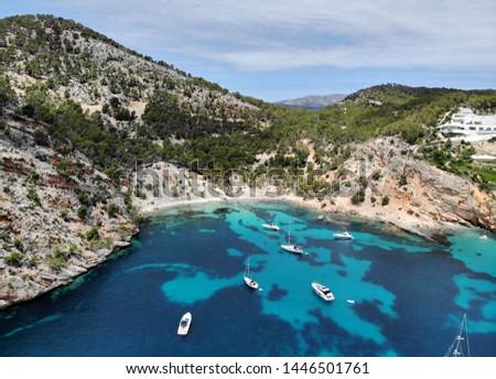 Breathtaking scenery landscape waterside aerial photo of Banyalb Stock photo © amok