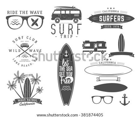 Bağbozumu sörf grafik baskı web tasarım Stok fotoğraf © JeksonGraphics