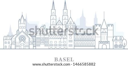 Ufuk çizgisi İsviçre şehir panorama Stok fotoğraf © Winner