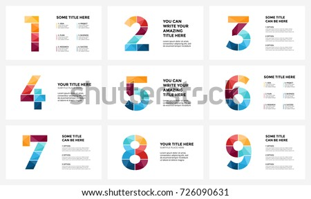 Infographic Number 1, 2, 3 Flat Layout, infographic chart in circular shape with three options or st Stock photo © kyryloff