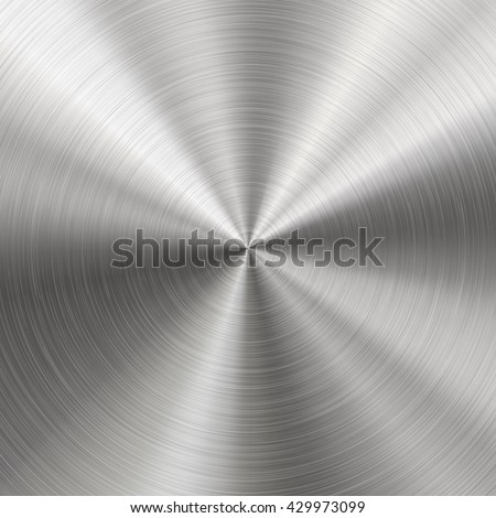 Silver metallic radial gradient with scratches. Titan, steel, chrome, nickel foil surface texture ef Stock photo © olehsvetiukha