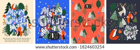Photo stock: Joyeux · Noël · illustration · nouvelle · année · objets