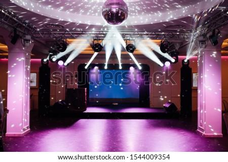 Disco ball widoku poniżej etapie świetle lustra Zdjęcia stock © ruslanshramko