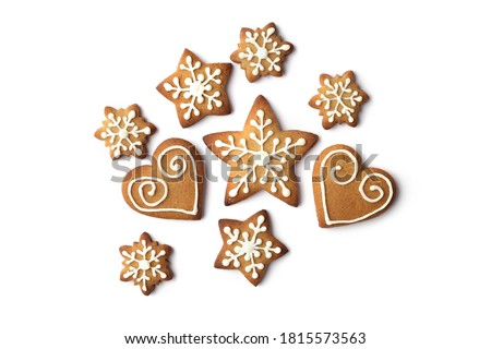 Christmas gingerbread cookies Stock photo © almaje