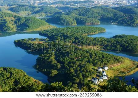 Fantastyczny krajobraz góry świeże atmosfera willi Zdjęcia stock © galitskaya