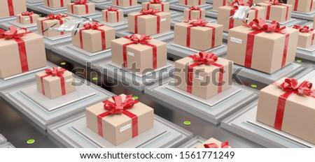 Logistyka centrum pełny nowoczesne indywidualny transportu Zdjęcia stock © Wetzkaz