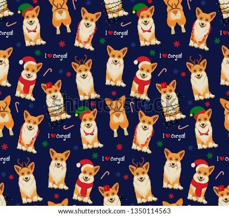 Vicces karácsony végtelen minta grafikus nyomtatott csúnya Stock fotó © JeksonGraphics