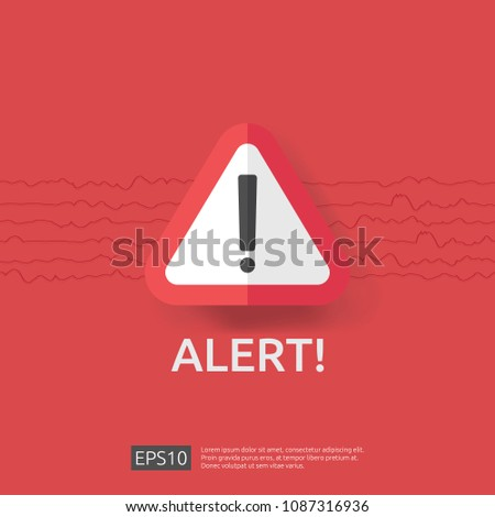 warning alert sign with exclamation mark symbol. disaster attention protection icon concept vector i Stock photo © taufik_al_amin
