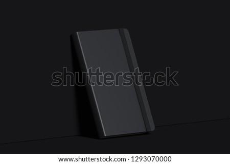Notepad papeterie noir planificateur affaires étude Photo stock © galitskaya