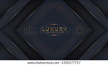 Vector zwarte goud abstract luxe frame Stockfoto © Iaroslava