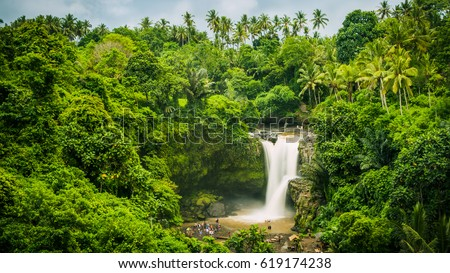 Tegenungan Waterfall near Ubud, Bali, Indonesia. Tegenungan Waterfall is a popular destination for t Stock photo © galitskaya