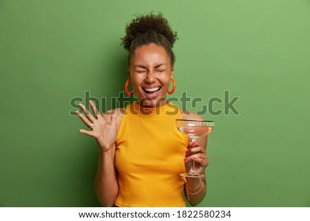 アフロ アメリカン 女性 手 楽しく 楽しい ストックフォト © vkstudio