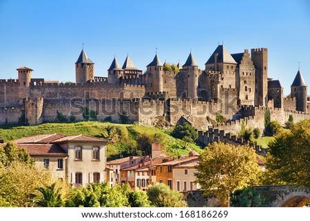 Frankrijk middeleeuwse citadel frans stad Stockfoto © borisb17