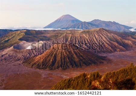 Nascer do sol parque java ilha Indonésia turista Foto stock © galitskaya