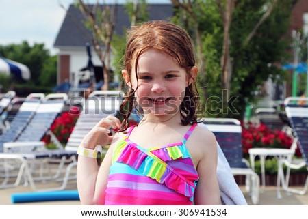 Yıl eski küçük çok güzel kız Stok fotoğraf © amok
