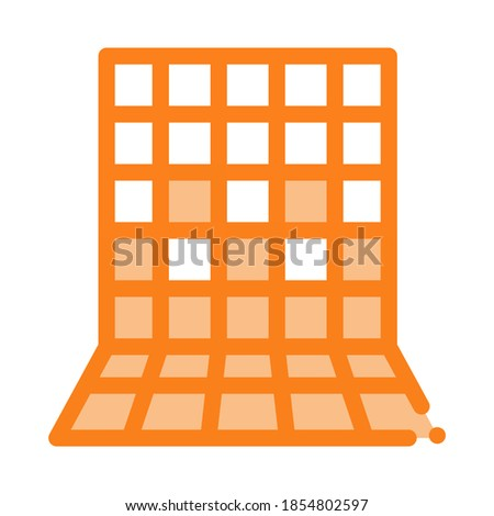 laying square tiles all over wall icon vector outline illustration Stock photo © pikepicture