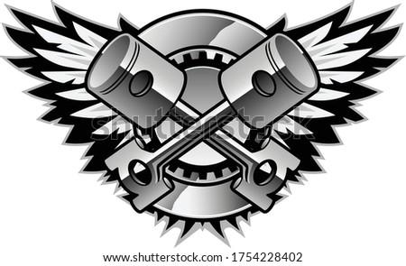 Cromo asas logotipo isolado legal realista Foto stock © jeff_hobrath