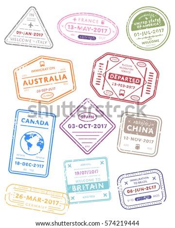 Németország nemzetközi utazás VISA bélyeg fehér Stock fotó © evgeny89