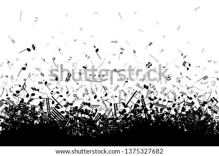 Diferente notas musicales signos caótico aislado Foto stock © evgeny89