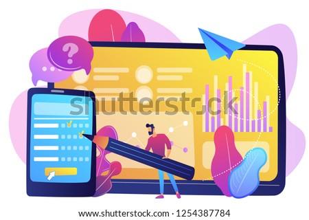 Online survey vector concept metaphor Stock photo © RAStudio