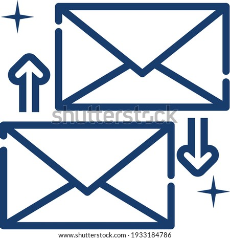 Business reply mails isolated on blue concepts of attracting new business Stock photo © johnkwan