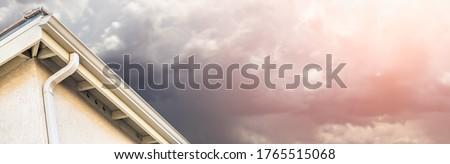 Casa nuovo senza soluzione di continuità alluminio pioggia tempesta Foto d'archivio © feverpitch