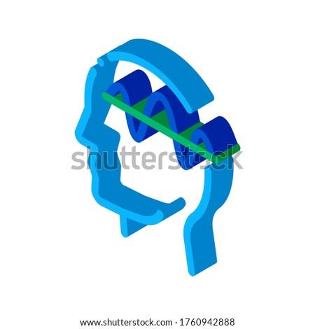 Sistema nervoso testa isometrica icona vettore segno Foto d'archivio © pikepicture