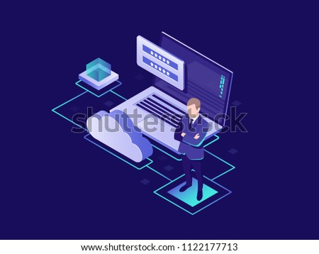 Shield Protection isometric icon vector illustration Stock photo © pikepicture