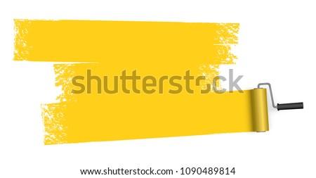 Citromsárga festék kép izolált fehér munka Stock fotó © nmarques74