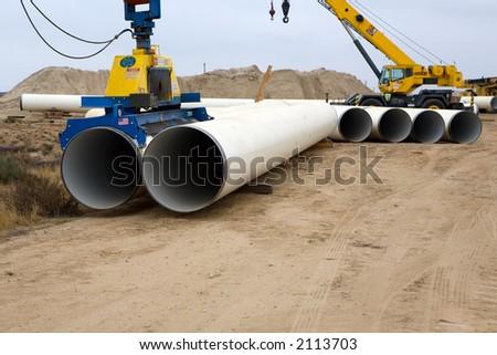 Büyük boru siper su inşaat Stok fotoğraf © rufous